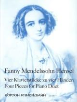 4 Pièces. 4 Mains Fanny Hensel Partition Piano - laflutedepan.com