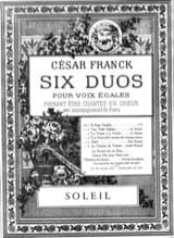 Soleil César Franck Partition Duos - laflutedepan.com