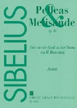 Pelleas et Mélisande. Op. 46. 4 Mains Jean Sibelius laflutedepan.com