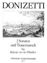 2 Sonates et Trauermarsch. 4 Mains Gaetano Donizetti laflutedepan.com