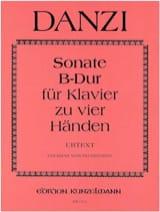 Sonate En Si Bémol Majeur. 4 Mains Danzi Partition laflutedepan.com
