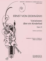 Variationen Uber Ein Kinderlied Opus 25. 2 Pianos laflutedepan.com