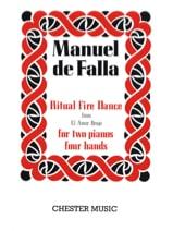 Ritual Fire Dance. 2 Pianos Manuel de Falla Partition laflutedepan.com