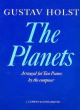 The Planets. 2 pianos Gustav Holst Partition Piano - laflutedepan.com