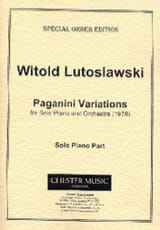 Witold Lutoslawski - Paganini Variations. (Piano Réduction) - Partition - di-arezzo.fr