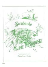 Moritz Moszkowski - Sarabande. 2 Pianos - Partition - di-arezzo.fr