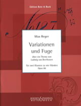 Variations et Fugue Op. 86. 2 Pianos Max Reger Partition laflutedepan