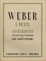 5 Pezzi Weber Partition Piano - laflutedepan.com