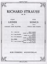 Befreit Op. 39-4. Voix Grave Richard Strauss laflutedepan.com