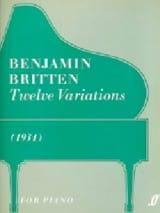 12 Variations Benjamin Britten Partition Piano - laflutedepan.com
