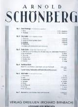 Arnold Schoenberg - Erhebung Opus 2-3 - Partition - di-arezzo.fr