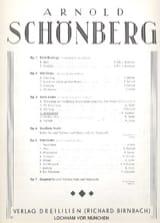 Arnold Schoenberg - Hochzeitslied Op. 3-4 - Partition - di-arezzo.fr