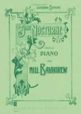 3ème Nocturne Mili Balakirev Partition Piano - laflutedepan.com