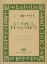 DOHNÁNYI - Ruralia Hungarica Op. 32a - Partition - di-arezzo.fr