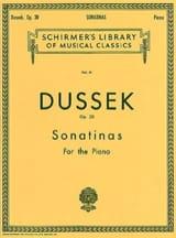 Sonatines Op. 20 - Jan Ladislav Dussek - Partition - laflutedepan.com