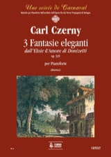 CZERNY - 3 Elegant Fantasies Op. 325. on the Elisir D'amore - Sheet Music - di-arezzo.com