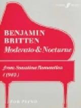 Moderato et Nocturne Benjamin Britten Partition laflutedepan.com