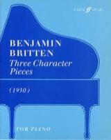 3 Character Pieces Benjamin Britten Partition Piano - laflutedepan.com