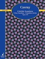 6 Sonatines Faciles Op. 163 - CZERNY - Partition - laflutedepan.com