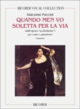 Giacomo Puccini - When Men Vo Soletta Per Via. Bohemian - Sheet Music - di-arezzo.co.uk