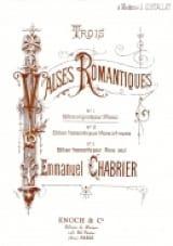 3 Valses Romantiques. 2 Pianos Emmanuel Chabrier laflutedepan.com