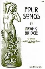 Frank Bridge - 4 Songs - Partition - di-arezzo.fr