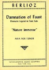 BERLIOZ - Immense nature. the Damnation of Faust - Sheet Music - di-arezzo.co.uk