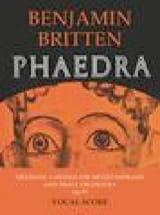 Phaedra Opus 93 Benjamin Britten Partition Mélodies - laflutedepan.com