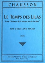 Ernest Chausson - The Lilac Time. Aloud - Sheet Music - di-arezzo.com