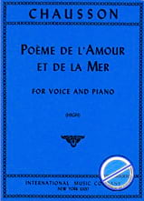 Ernest Chausson - Poem of Love and the Sea Opus 19. High Voice - Sheet Music - di-arezzo.co.uk