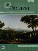 20 Songs. Voix Grave Gaetano Donizetti Partition laflutedepan.com