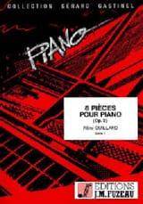 Rémi Guillard - 8 Pièces Pour Piano Op. 2 - Partition - di-arezzo.fr