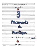 Jean Wiener - 3 Moments of Music - Sheet Music - di-arezzo.co.uk
