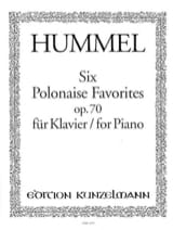 HUMMEL - 6 Polish Favorites Op. 70 - Sheet Music - di-arezzo.co.uk