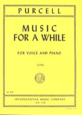 Henry Purcell - Music For A While. Deep voice - Sheet Music - di-arezzo.com