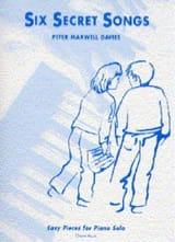 Davies Maxwell - 6 Secret Songs - Partition - di-arezzo.fr