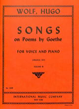 Songs On Poems By Goethe Volume 3 Voix Haute Hugo Wolf laflutedepan