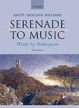 Williams Ralph Vaughan - Serenade To Music - Partition - di-arezzo.fr