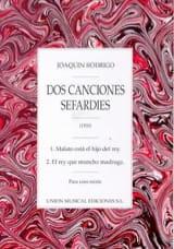 2 Canciones Sefardies Joaquin Rodrigo Partition laflutedepan.com