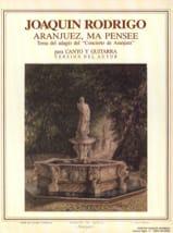 Aranjuez, ma Pensée Joaquin Rodrigo Partition laflutedepan.com
