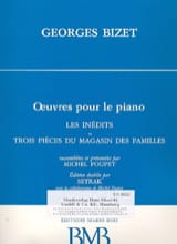 BIZET - Unpublished and 3 Pieces From the Family Shop - Sheet Music - di-arezzo.co.uk