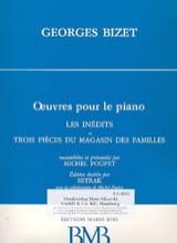 BIZET - Les Inédits et 3 Pièces Du Magasin des Familles - Partition - di-arezzo.fr