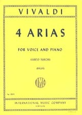 VIVALDI - 4 Arias High Voice - Sheet Music - di-arezzo.com