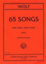 Hugo Wolf - 65 Songs. Voix Haute - Partition - di-arezzo.fr