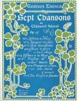 Georges Enesco - 7 Chansons de Clément Marot Opus 15 - Partition - di-arezzo.fr