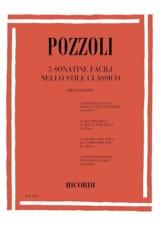 Pozzoli - 5 Sonatine Facili Nello Stile Classico - Partition - di-arezzo.fr