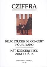 György Cziffra - 2 Etudes de Concert Pour Piano. - Partition - di-arezzo.fr