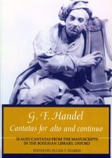 Cantatas For Alto And Continuo HAENDEL Partition laflutedepan.com