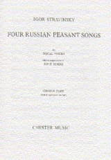 Igor Stravinski - 4 Russian Peasant Songs. Version 1954 - Partition - di-arezzo.fr