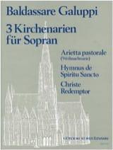 3 Kirchenarien Für Soprano - Baldassare Galuppi - laflutedepan.com